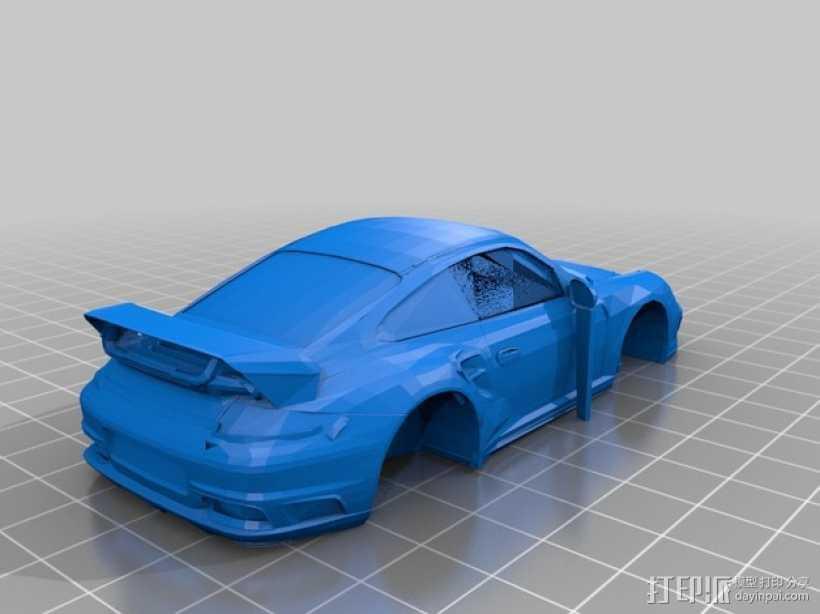 Porsche 911 Turbo保时捷跑车  3D打印模型渲染图