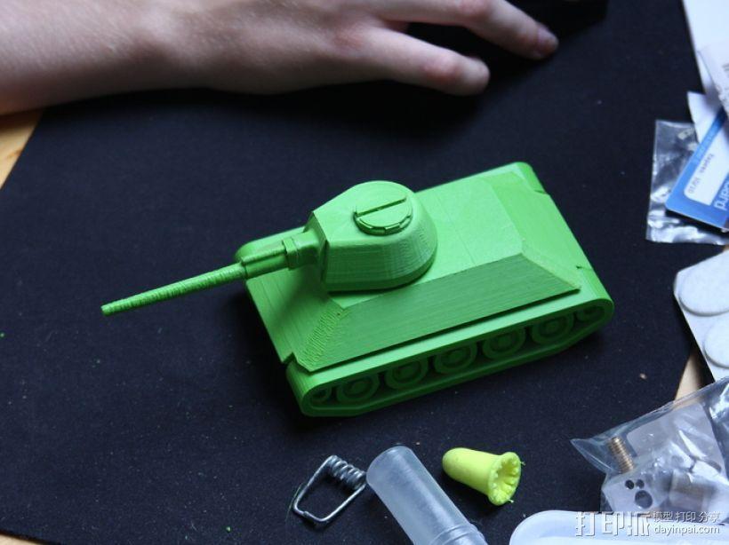 T-34坦克 3D打印模型渲染图