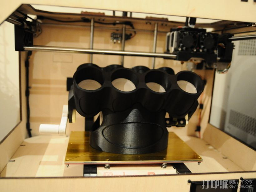 V8发动机底座支架 展示架  3D打印模型渲染图