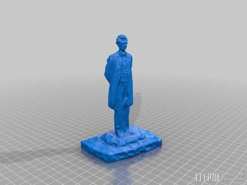 亚伯拉罕林肯雕塑 3D打印模型渲染图