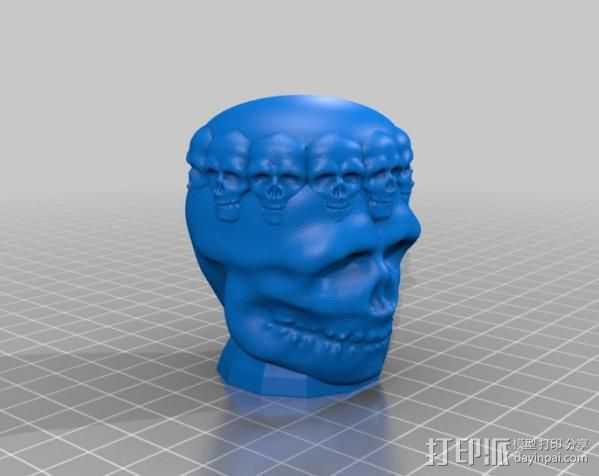 骷髅王  头骨  3D打印模型渲染图