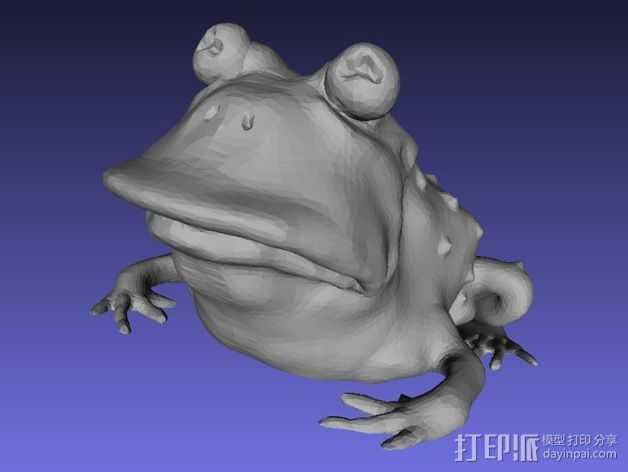 蟾蜍术士 3D打印模型渲染图