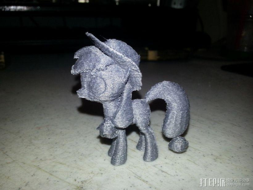 小马宝莉 小马驹 3D打印模型渲染图