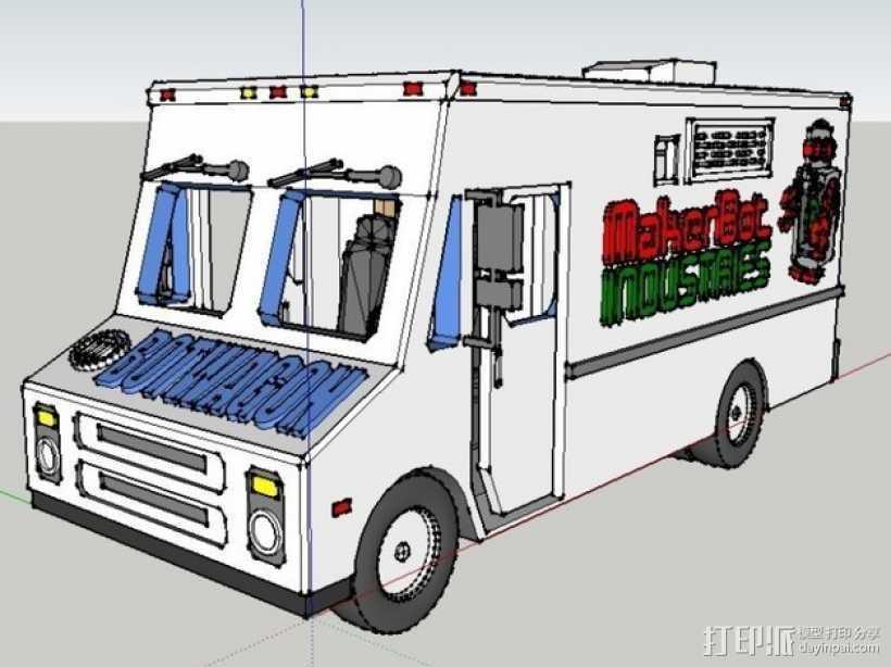 旅行车 房车 3D打印模型渲染图