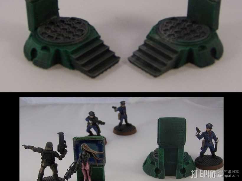 传送台  3D打印模型渲染图