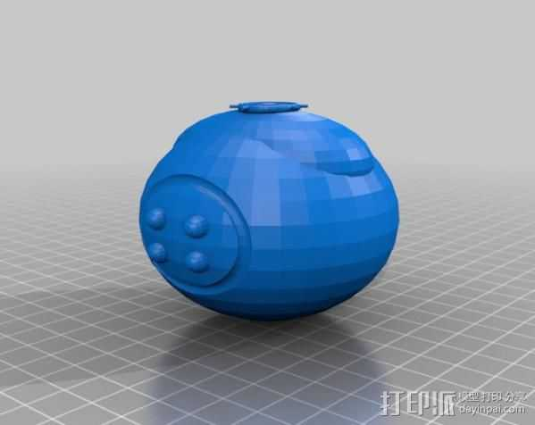 等离子手榴弹 3D打印模型渲染图