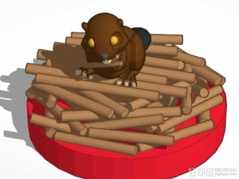 海狸起司蛋糕 3D打印模型渲染图
