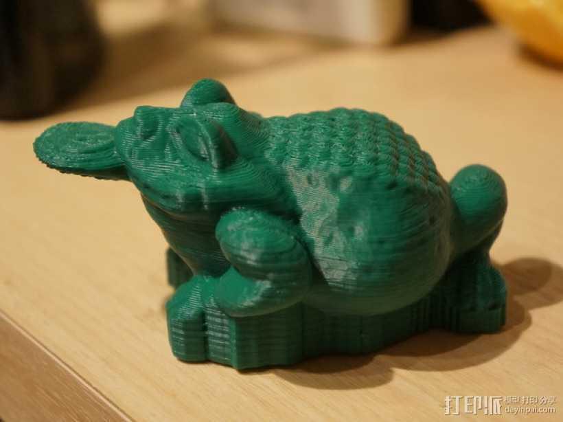三条腿的蟾蜍 3D打印模型渲染图