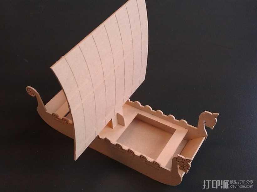 维京海盗船 3D打印模型渲染图