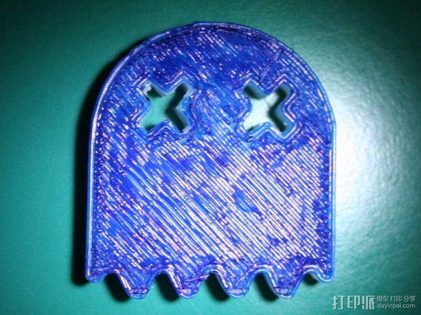 吃豆人 小幽灵 3D打印模型渲染图