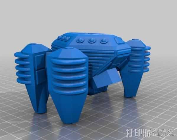 侦查飞船 3D打印模型渲染图