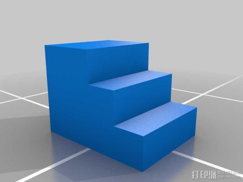 床前凳 楼梯 3D打印模型渲染图