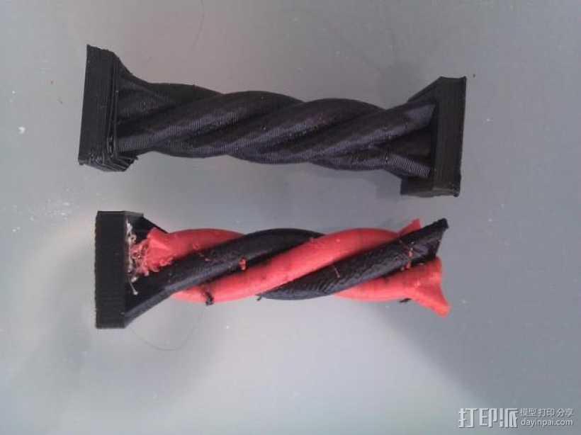 双色螺旋柱 3D打印模型渲染图