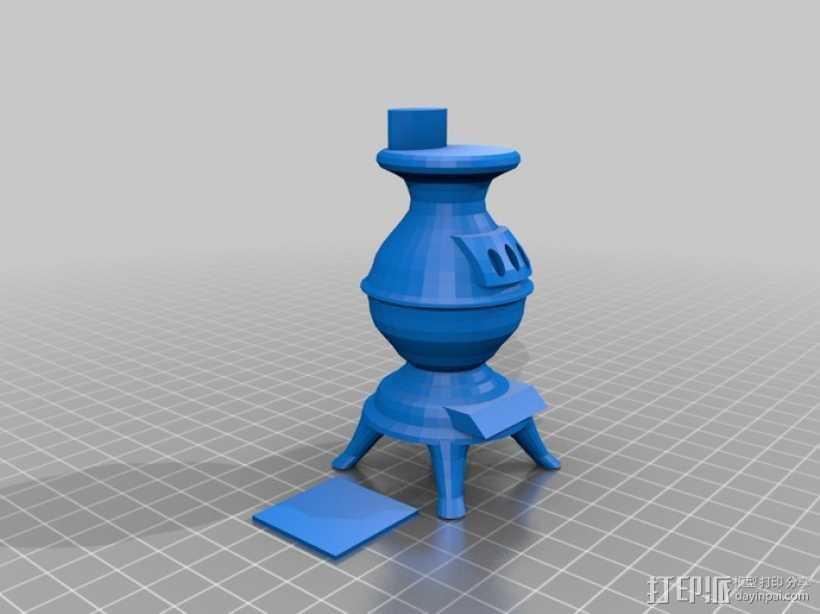 木材炉 柴火炉 3D打印模型渲染图