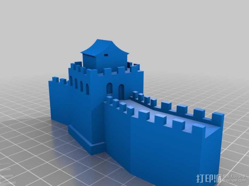 中国的长城 3D打印模型渲染图