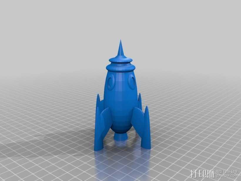 火箭 太空飞船 3D打印模型渲染图