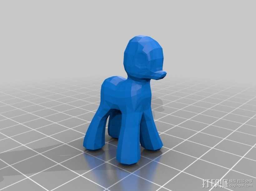 小马宝莉 3D打印模型渲染图