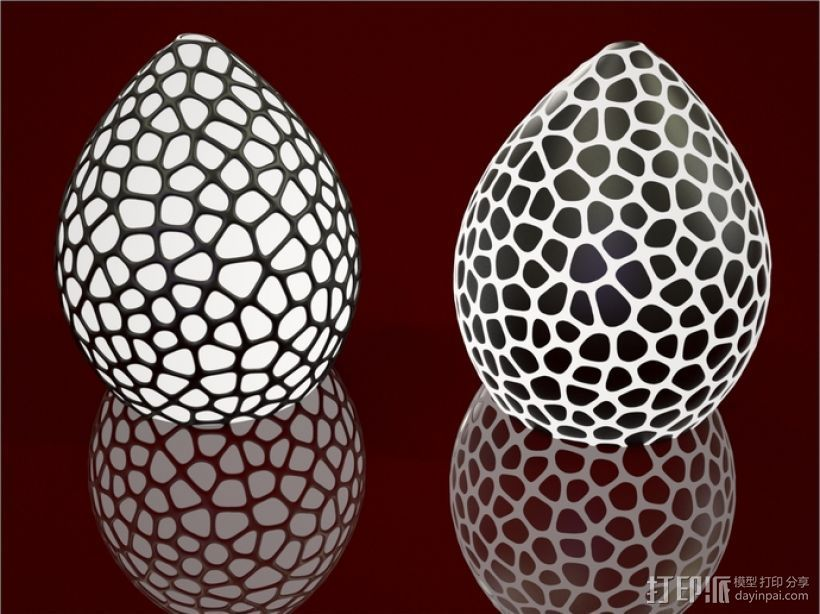 恐龙蛋灯罩 3D打印模型渲染图