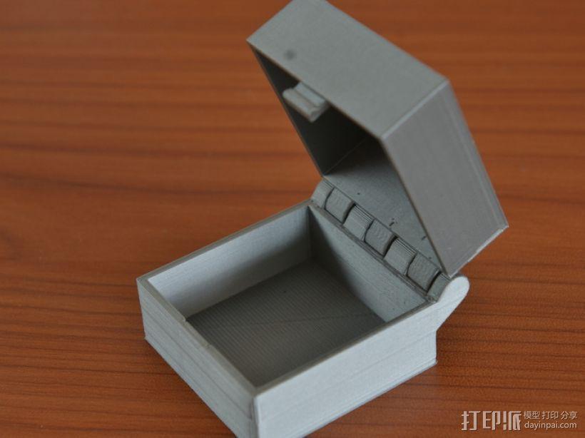 带锁的铰链盒 3D打印模型渲染图
