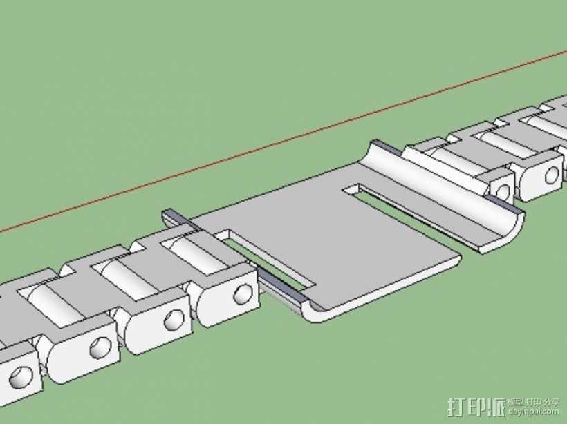 iPod Nano 6代手表 3D打印模型渲染图