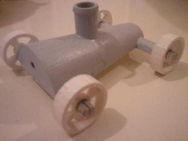 喷气式车 3D打印模型渲染图