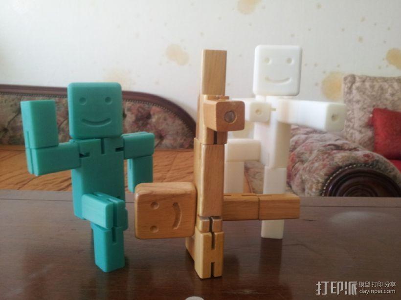 斯迈利立方体人 3D打印模型渲染图