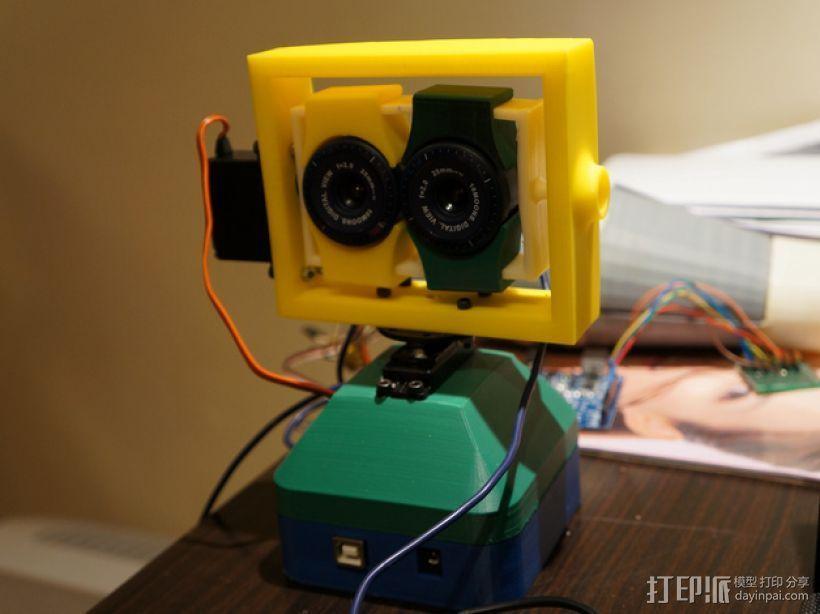 USB摄像机万向节 3D打印模型渲染图