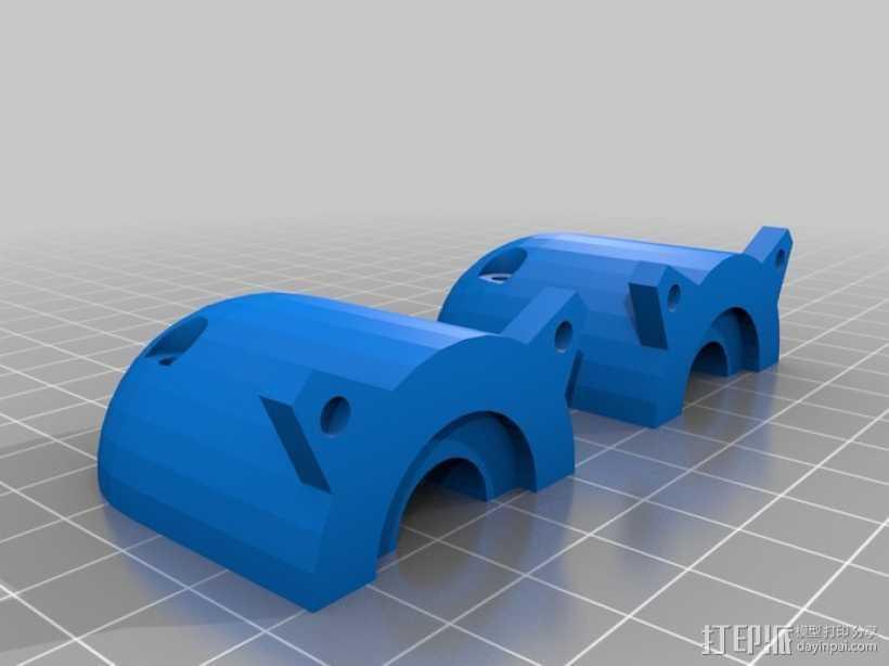 Claystruder 2,旋螺浆挤压机 3D打印模型渲染图