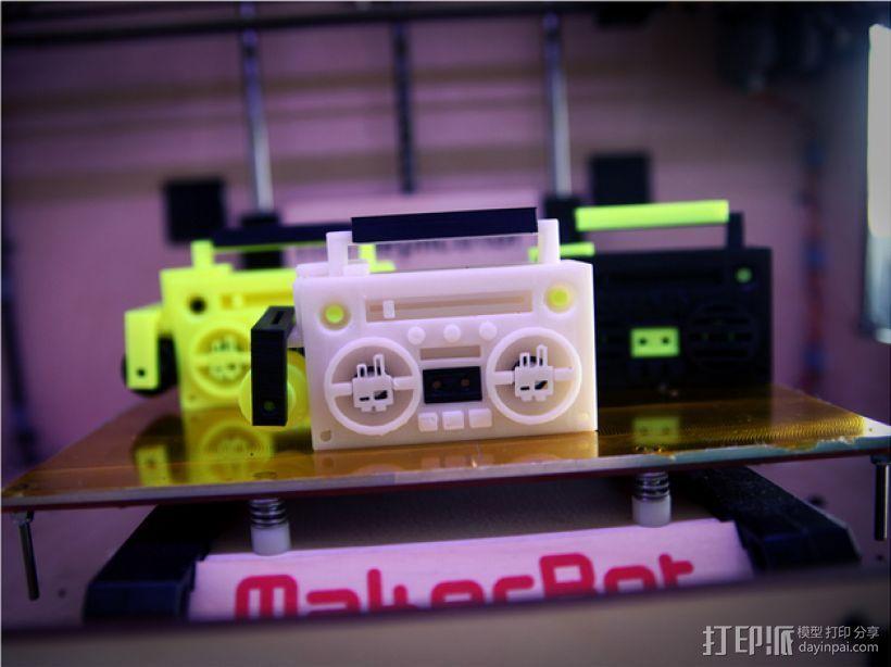 立体音箱 3D打印模型渲染图