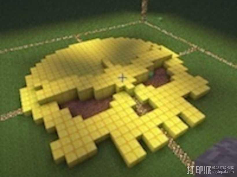 骷髅头工艺品 3D打印模型渲染图