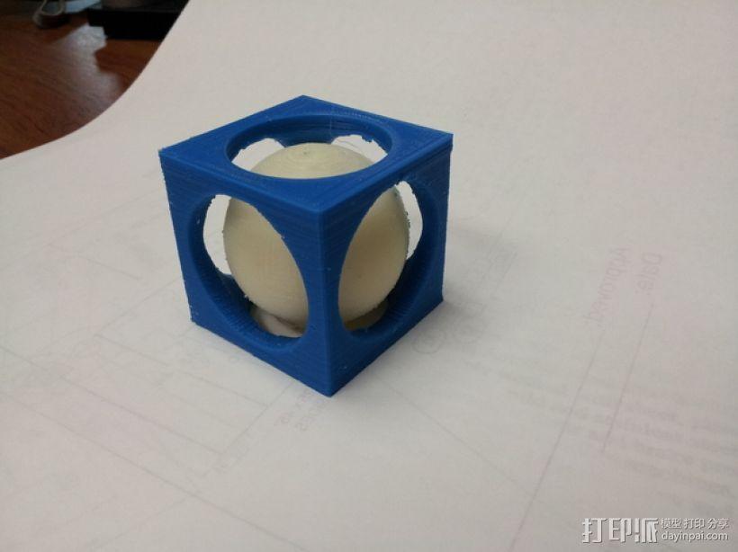 立方体 小球 3D打印模型渲染图