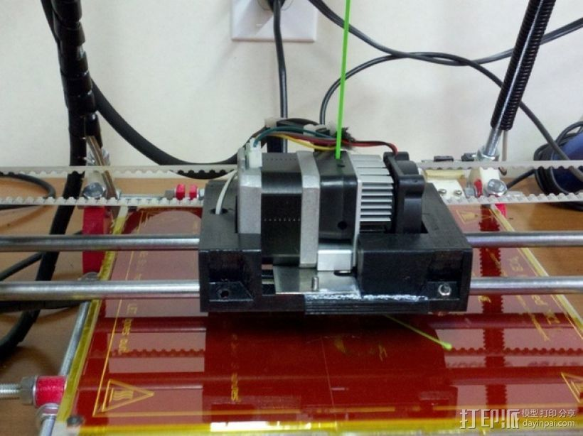 MK7 X步进机 3D打印模型渲染图