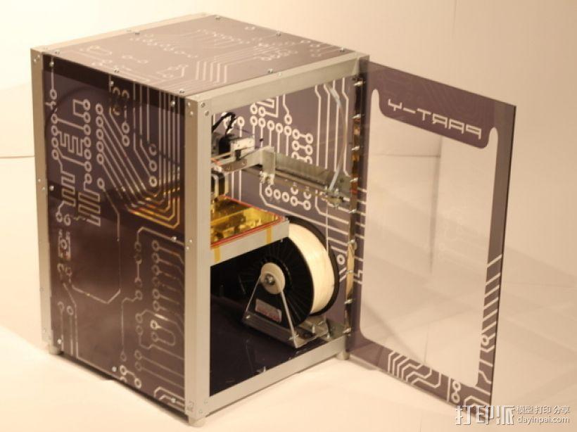 打印机Y轴框架 3D打印模型渲染图