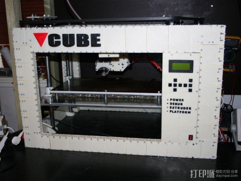 CUBE  3D打印机 3D打印模型渲染图