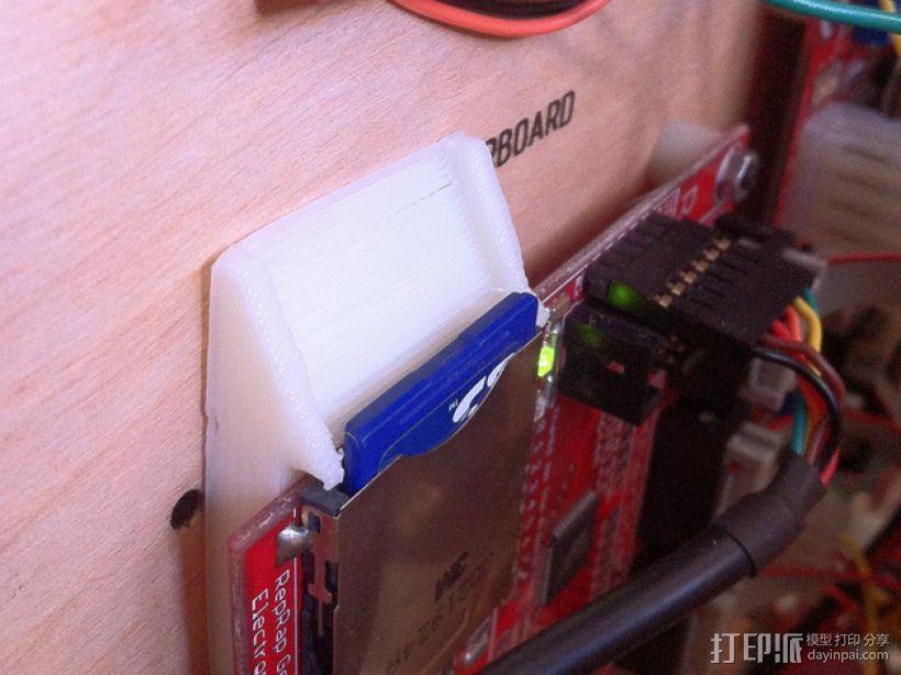 壁挂式SD卡面板 3D打印模型渲染图