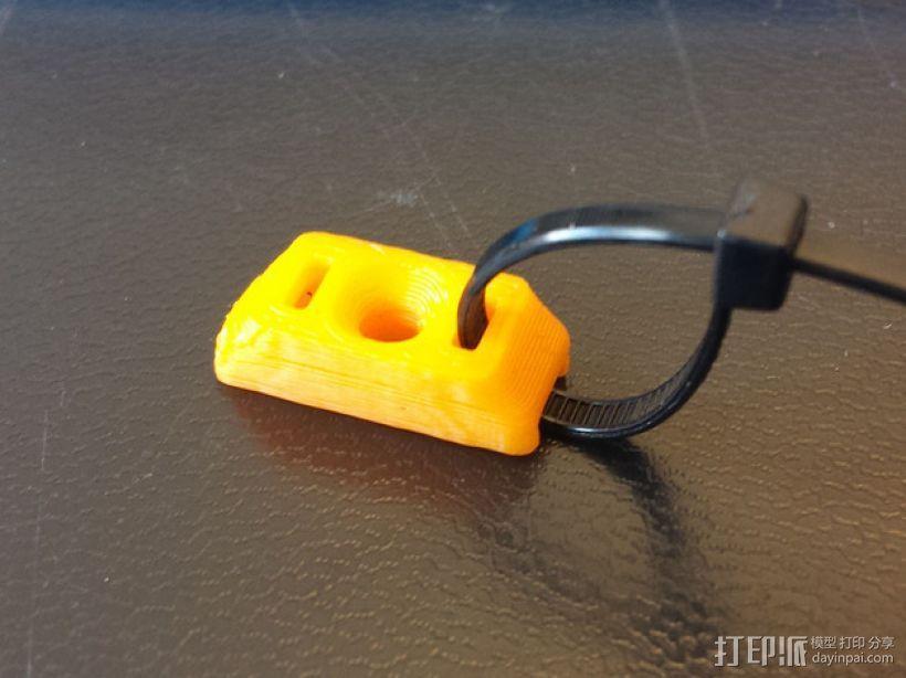 M3束线带带扣 3D打印模型渲染图