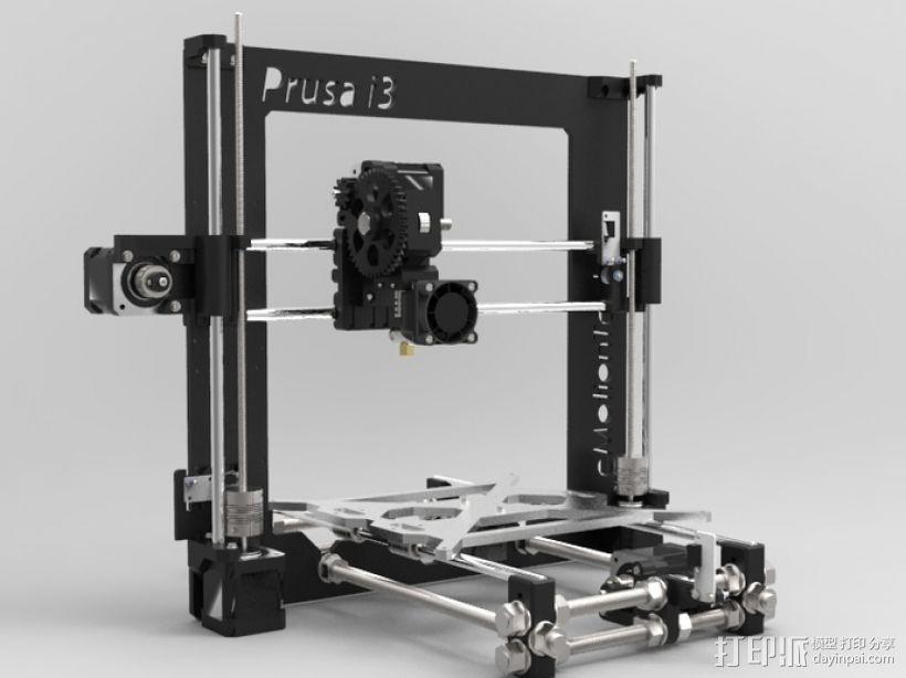 Prusa i3 3D打印机 3D打印模型渲染图