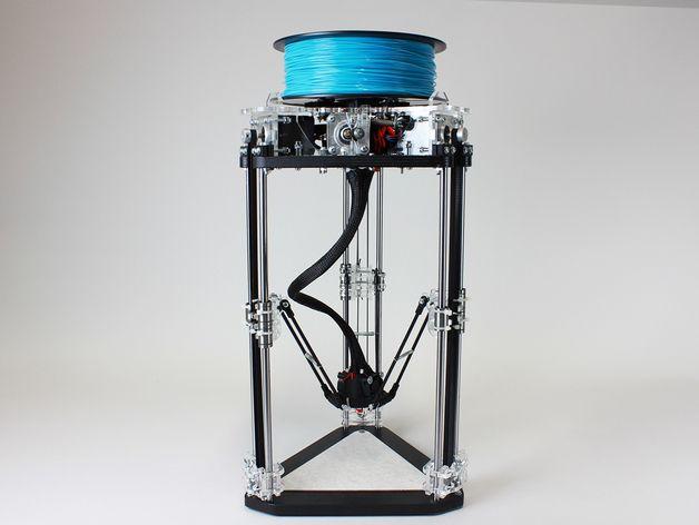 µDelta微型打印机 3D打印模型渲染图