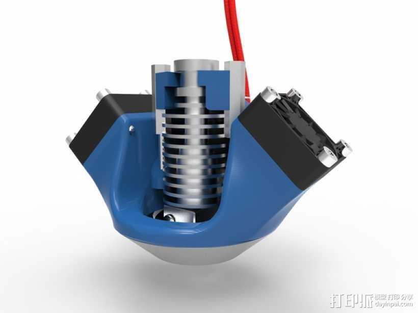 K8200 E3D环式冷却机 3D打印模型渲染图