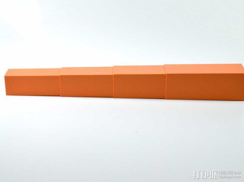 伸缩杆 3D打印模型渲染图
