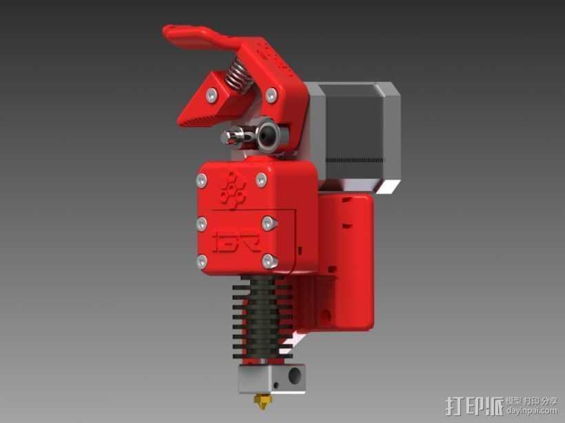 3D直接驱动挤出机 3D打印模型渲染图