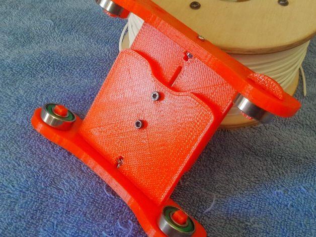 卷线轴 托垫 3D打印模型渲染图