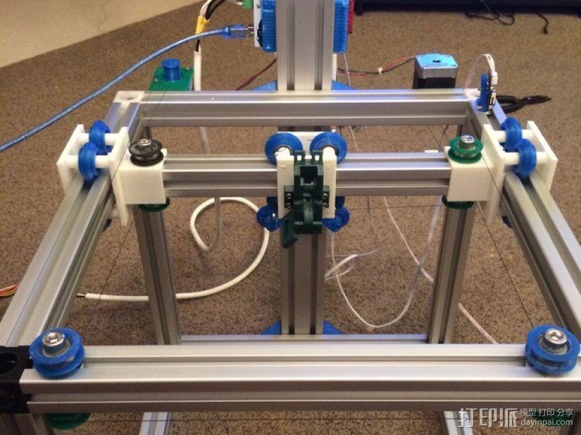 改良版Core-T 3D打印机 3D打印模型渲染图