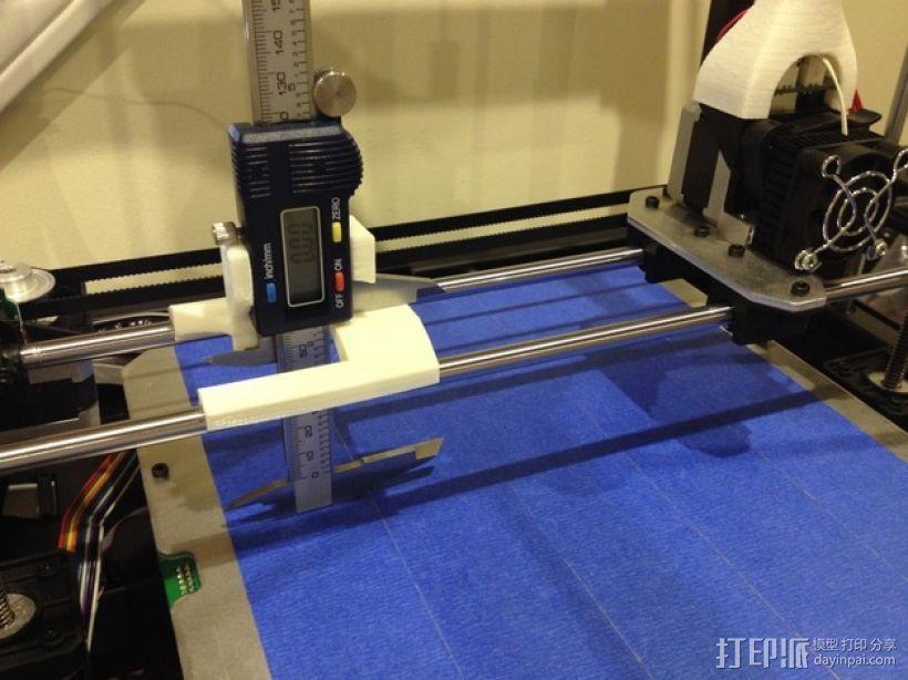 数字化卡尺测量夹具 3D打印模型渲染图