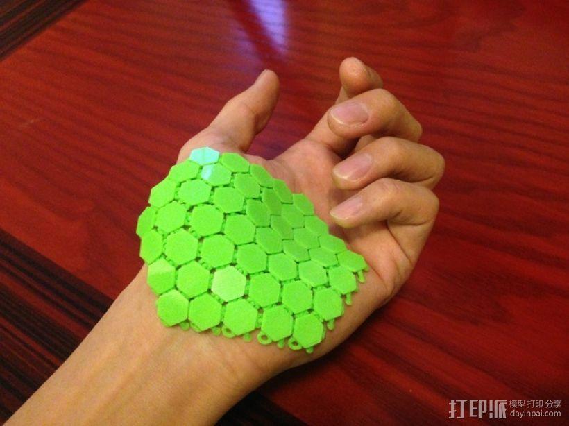 六边形锁子甲 3D打印模型渲染图