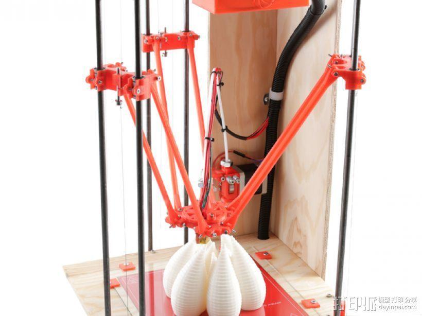 Rostock BI V1.0 3D打印机 3D打印模型渲染图