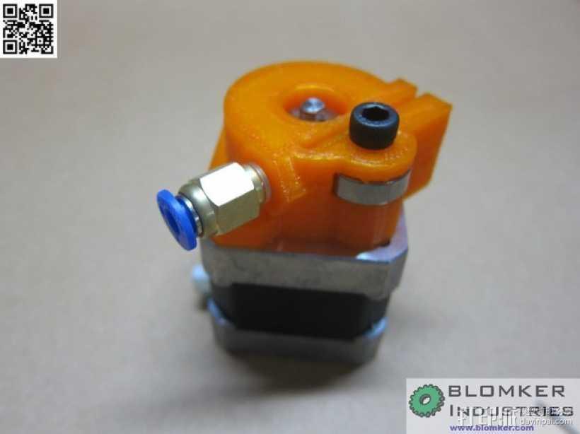 Kossel Mini 3D打印机NEMA17挤出机 3D打印模型渲染图