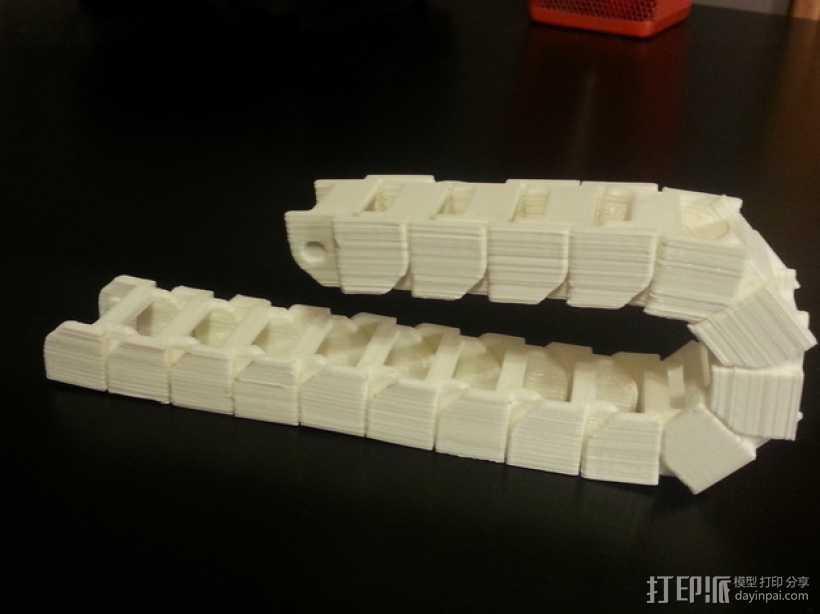 打印机电线保护链 3D打印模型渲染图