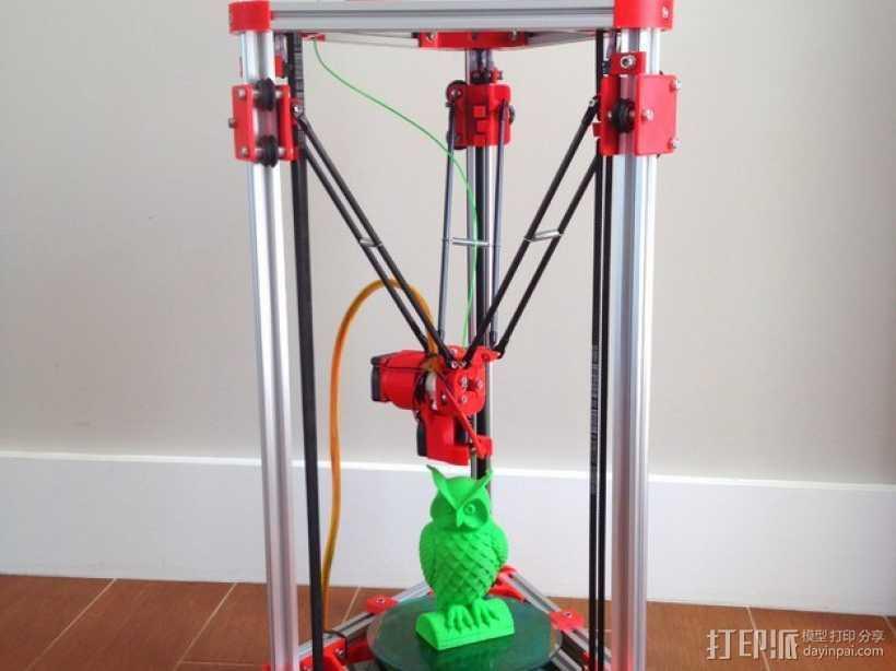 Kossel Mini 3D打印机 3D打印模型渲染图