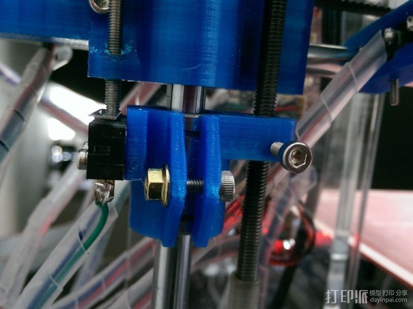 RepRap Prusa i3 3D打印机打印床校准装置 3D打印模型渲染图